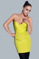 Naven Heartthrob Dress in Chartreuse Lime