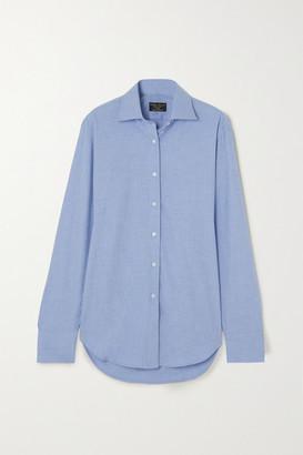 Emma Willis + Net Sustain Sky Brushed-cotton Shirt - Blue
