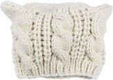 Kobwa(TM) Women Devil Horns Cat Ear Crochet Braided Knit Ski Wool Hat Cap