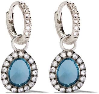 Annoushka 18kt White Gold Diamond Drop Earrings