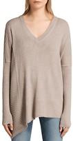 AllSaints Keld Olivo Asymmetric Sweater