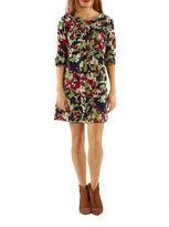 24/7 Comfort Apparel Floral Shift Dress