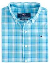 Vineyard Vines Boys' Point Plaid Poplin Whale Shirt - Big Kid