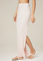 Bebe Micropleat Maxi Skirt