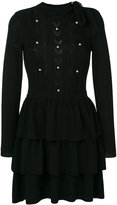 RED Valentino pearl-embroidered fitted dress