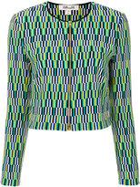 Diane von Furstenberg embroidered zip jacket - women - Silk/Polyester - 8