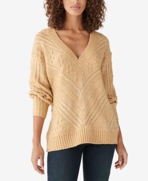 Lucky Brand Textured V-Neck Sweater