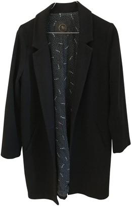 Des Petits Hauts Black Wool Coat for Women