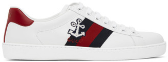 Gucci White Cauliflower Ace Sneakers
