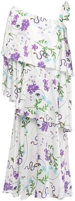 Borgo de Nor Loie Tiered Floral-print Cotton And Silk-bleed Midi Dress