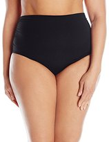 Anne Cole Women's plus-size Live In Color Solid Convertible Bikini Bottom