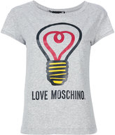 Love Moschino lightbulb print T-shirt - women - Cotton/Spandex/Elastane - 40