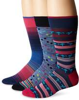 Bugatchi Men's Three-Pack Daire Sock