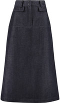 Vilshenko Wool and cotton-blend midi skirt