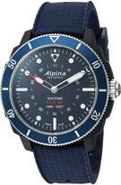 Alpina Men's 'Horological Smart' Quartz Stainless Steel and Rubber Sport Watch, Color:Blue (Model: AL-282LNN4V6)