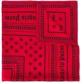 Palm Angels logo print scarf - women - Silk - One Size