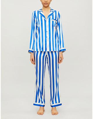 Selfridges Striped stretch-silk pyjama set