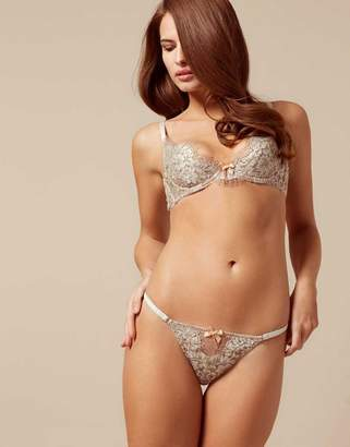 Agent Provocateur Lorelli Brief Rose Gold And Silver