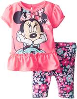 Disney Baby Girls Minnie Mouse Girl Legging Set, Pink, 0-3 Months