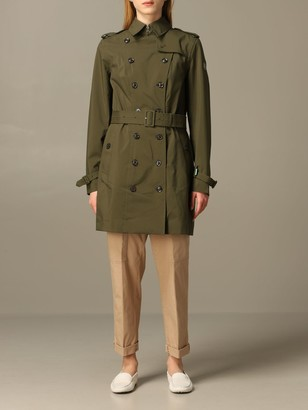 Save The Duck Double-breasted Trench Coat With Belt