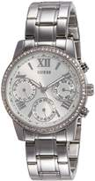 GUESS GUESS? Women's MINI SUNRISE Steel Bracelet & Case Quartz Silver-Tone Dial Analog Watch W0623L1