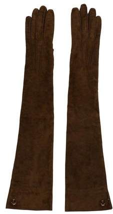 Loro Piana Suede Long Gloves