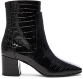Givenchy Paris Croc Embossed Ankle Boots