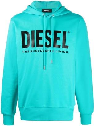 Diesel logo print hooded sweatshirt