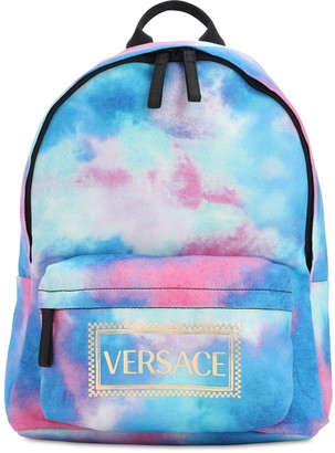 Versace Tie Dyed Cotton Canvas Backpack