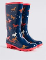 Marks and Spencer Kids' Horse Welly Boots