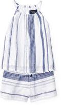 Ralph Lauren 2-6X Striped Cotton Top & Short Set