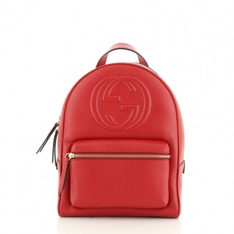 Gucci Soho Red Leather Backpacks