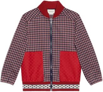 Gucci Children's Houndstooth cotton jacket