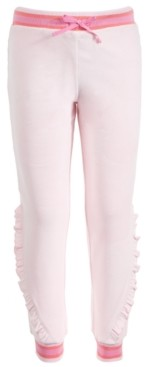 Ideology Little Girls Velour Ruffle Sweatpants, Created for Macy's