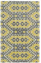 Leon Hand-tufted de Boho Yellow Rug (3'6 x 5'6)