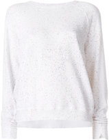 The Great flocked sweatshirt - women - Cotton - M
