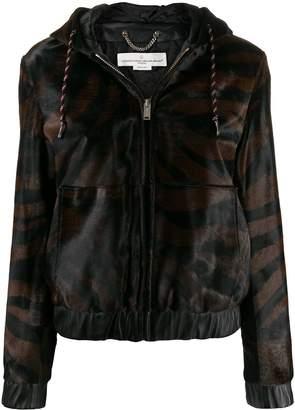 Golden Goose tiger print leather jacket