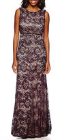 R & M Richards R&M Richards Sleeveless Formal Lace Gown