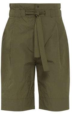 SASQUATCHfabrix. High Waisted Technical Shell Shorts - Mens - Khaki