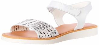 Pablosky Kids Girls Open Toe Sandals White (486505 Blanco) 11.5 UK Child
