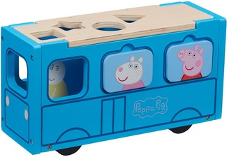 Peppa Pig Peppas Wood Play School Bus Shape Sorter