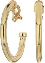 Lauren Ralph Lauren Riding High Large Metal 3/4 Clip Hoop Earrings