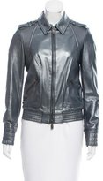McQ Metallic Leather Jacket