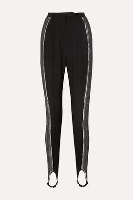 Ellery Resolution Cady And Ribbed-knit Stirrup Pants - Black