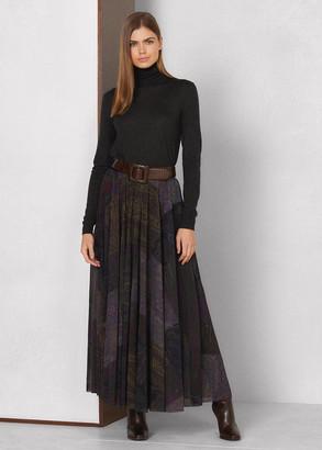 Ralph Lauren Pavla Paisley Patchwork Pleated Skirt