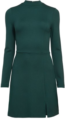 French Connection Lula Highneck Fit-&-Flare Dress