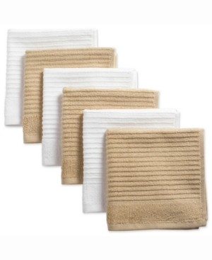 Design Imports Assorted Pebble Ribbed Terry Dishcloth, Set of 6