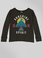 Junk Food Clothing Kids Girls Sunshine Spirit Long Sleeve-jtblk-m