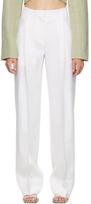 Jacquemus White Le Pantalon Loya Trousers