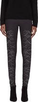 Gareth Pugh Grey & Silver Faille Embroidered Trousers